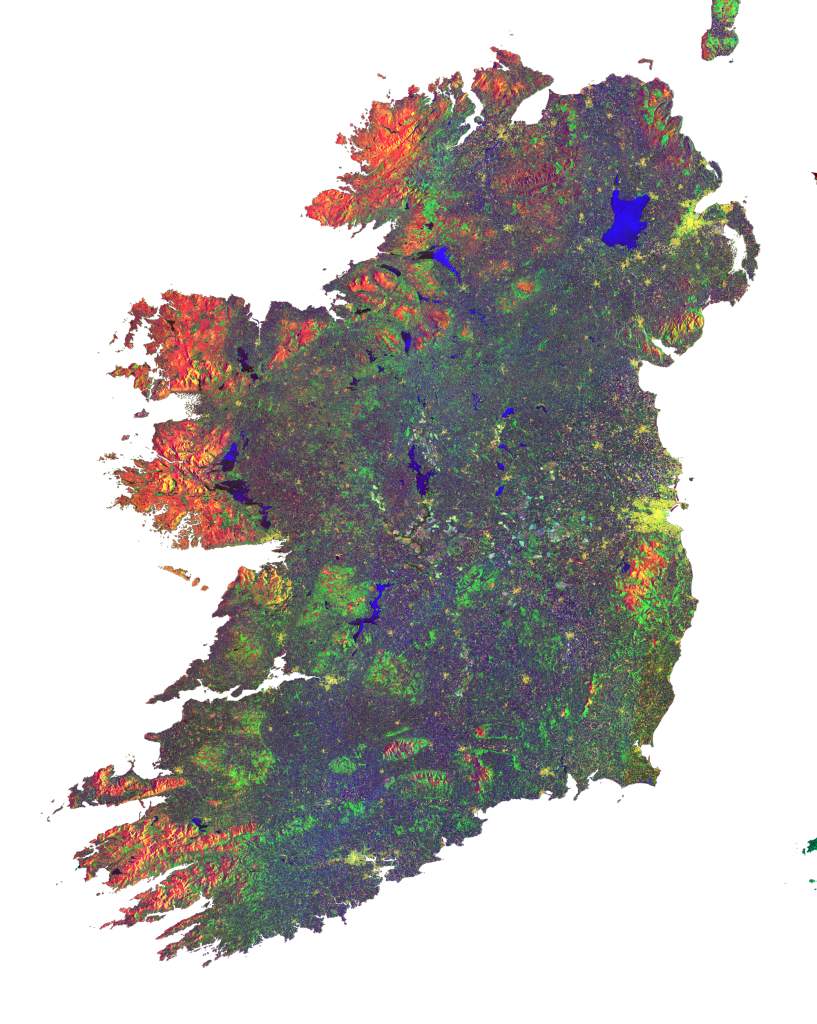 Ireland composite from Sentinel-1A using SNAP/S1 Toolbox