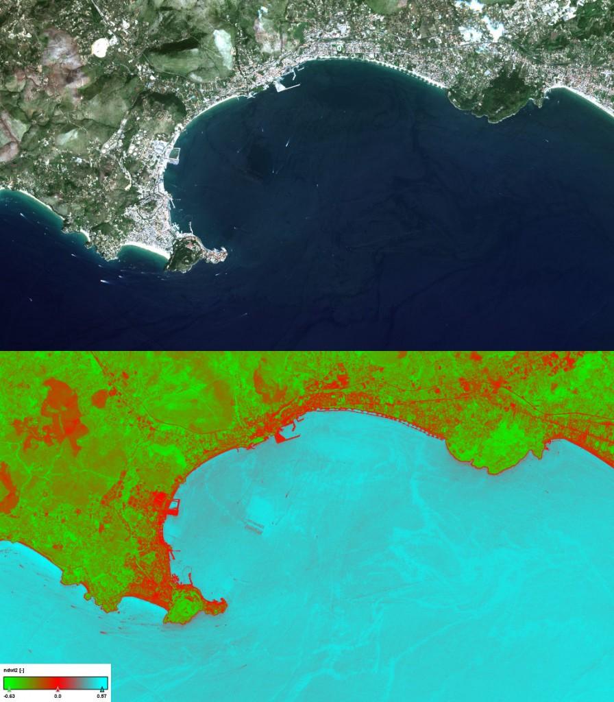 Sentinel-2 for aqua-culture facilities detection
